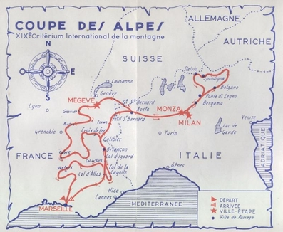 19º Rally Coupe del Alpes 1958